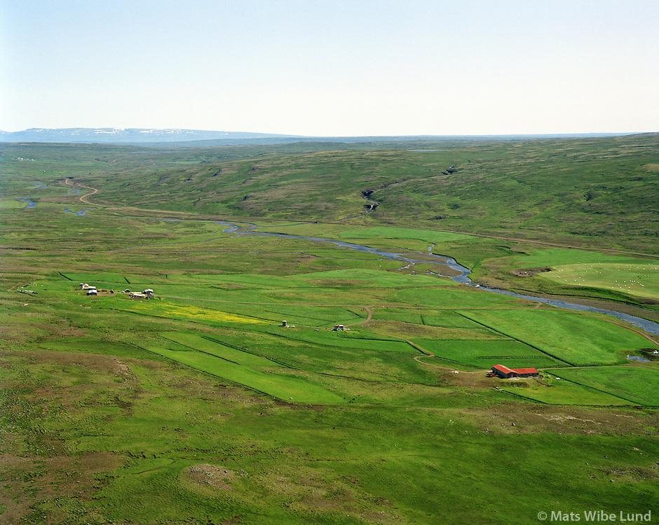 Sámsstaðir séð til austurs, Dalabyggð áður Laxárdalshreppur. / Samsstadir viewing east, Dalabyggd former Laxardalshreppur.
