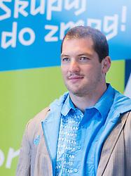 Matjaz Ceraj during presentation of Slovenian Olympic and Paralympic team for London 2012, on July 6, 2012 in Ljubljana's Castle, Ljubljana, Slovenia.  (Photo by Vid Ponikvar / Sportida.com)