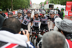 Team Sunweb celebrates Rivera's win of the Prudential Ride London Classique - a 66 km road race, starting and finishing in London on July 29, 2017, in London, United Kingdom. (Photo by Balint Hamvas/Velofocus.com)