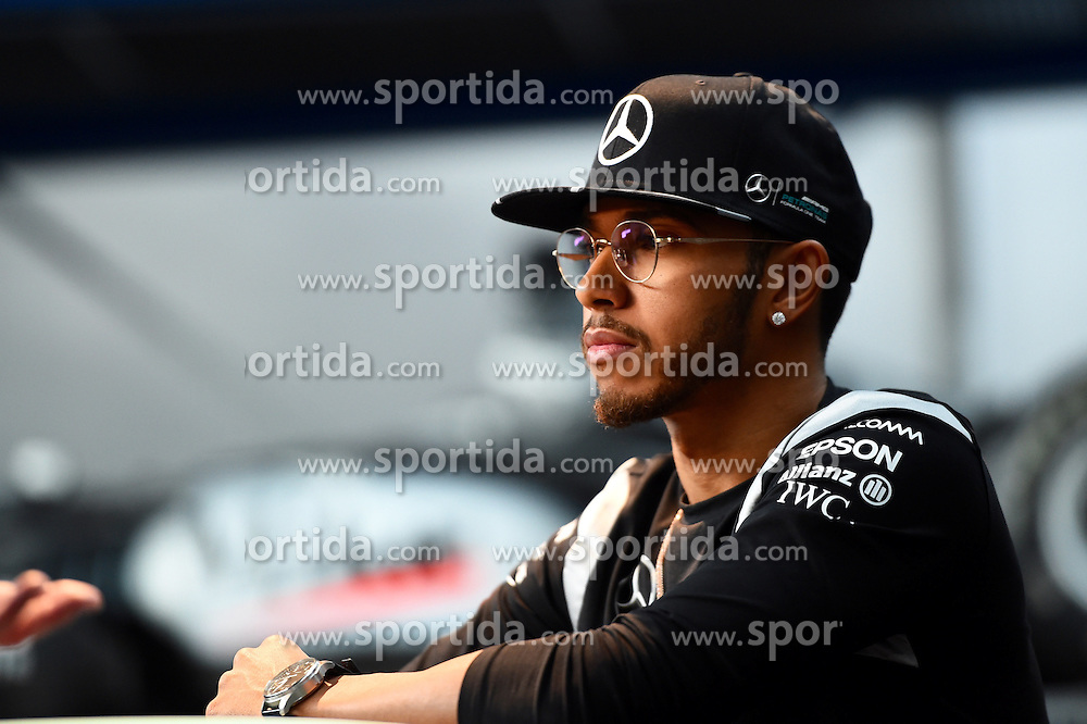 12.03.2016, Mercedes, Stuttgart, GER, FIA, Formel 1, Mercedes Motorsport Kickoff 2016, im Bild Lewis Hamilton (GBR) Mercedes AMG F1 // during the Mercedes Motorsport Kickoff 2016 at the Mercedes in Stuttgart, Germany on 2016/03/12. EXPA Pictures &copy; 2016, PhotoCredit: EXPA/ Sutton Images/ Andre/<br /> <br /> *****ATTENTION - for AUT, SLO, CRO, SRB, BIH, MAZ only*****