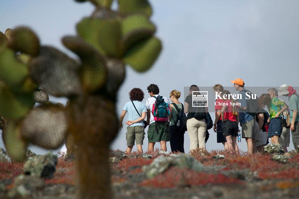 Tourists on Galapagos Island, Ecuador