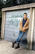 Gavin Standing by a Garage, Hawthorne Road, High Wycombe, UK, 1980s.