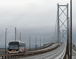 Some of the first buses to make use of the Forth Road Bridge as a new public transport priority route from today.<br /> <br /> © Dave Johnston/ EEm
