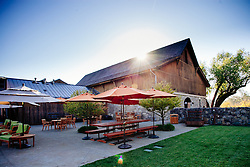 The patio at Valley of the Moon Winery