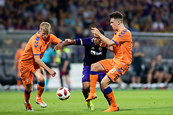 Marcos Magno Morales Tavares of NK Maribor and Ryan Jack of FC Rangers during 2nd Leg football match between NK Maribor and Rangers FC in 3rd Qualifying Round of UEFA Europa League 2018/19, on August 16, 2018 in Stadion Ljudski vrt, Maribor, Slovenia. Photo by Urban Urbanc / Sportida