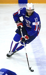 Jurij Golicic of Slovenia at ice-hockey game Slovenia vs Slovakia at Relegation  Round (group G) of IIHF WC 2008 in Halifax, on May 09, 2008 in Metro Center, Halifax, Nova Scotia, Canada. Slovakia won 5:1. (Photo by Vid Ponikvar / Sportal Images)