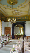 Wedding styling by Get Knotted for a wedding held at Springkell, Dumfrieshire.<br /> The house was styled by wedding planning and prop hire company 'Get Knotted'. The company, from  the Scottish Borders, designs, styles, organises and supplies props for a wedding.