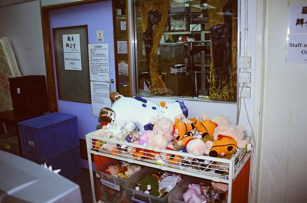 """In the """"Family store"""" of the Salvation Army of Hong-kong."""