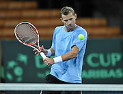 Wroclaw 29/01/2013.Hala Stulecia.Davis Cup .Poland vs Slovenia.Mariusz Fyrstenberg of Poland during the training session.Photo by : Piotr Hawalej