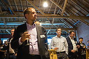 Guests are welcomed to the Silicon Valley Business Journal's HHaaS Tech Mixer at ZERO1 in San Jose, California, on May 28, 2015. (Stan Olszewski/SOSKIphoto for the Silicon Valley Business Journal)