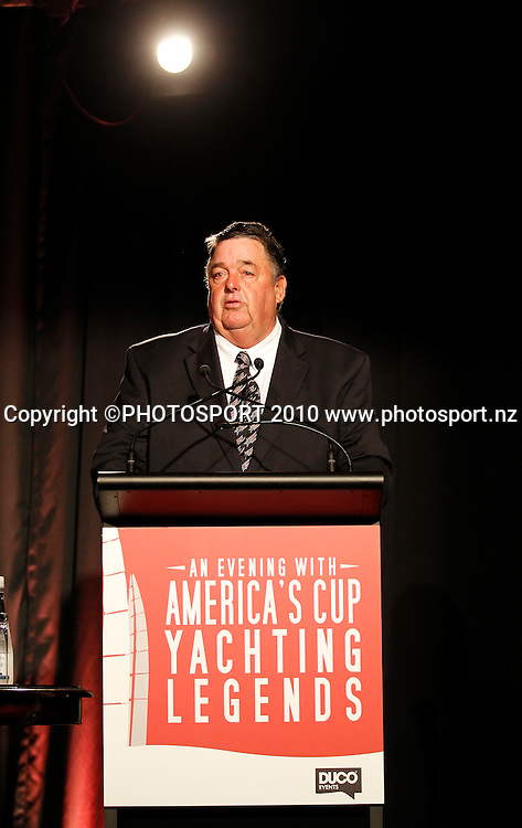 Dennis Conner. An Evening with America's Cup Legends, Asthma Fund raising dinner, Langham Hotel, Auckland, Friday 17 December 2010. Photo: Simon Watts/photosport.co.nz