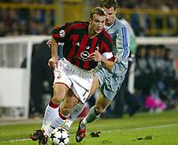 Fotball, 4. november 2003, Champions League,, Club Brugge ( Brügge )-Milan 0-1,  Andriy Shevchenko, Milan
