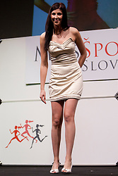 Nastja Zajc during event Miss Sports of Slovenia 2012, on April 21, 2012, in Festivalna dvorana, Ljubljana, Slovenia. (Photo by Urban Urbanc / Sportida.com)