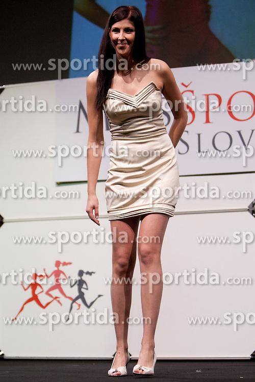 Nastja Zajc during event Miss Sports of Slovenia 2012, on April 21, 2012, in Festivalna dvorana, Ljubljana, Slovenia. (Photo by Urban Urbanc / Sportida.com)