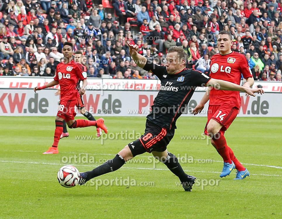 04.04.2015, BayArena, Leverkusen, GER, 1. FBL, Bayer 04 Leverkusen vs Hamburger SV, 27. Runde, im Bild Ivica Olic (Hamburger SV #8) // during the German Bundesliga 27th round match between Bayer 04 Leverkusen and Hamburger SV at the BayArena in Leverkusen, Germany on 2015/04/04. EXPA Pictures &copy; 2015, PhotoCredit: EXPA/ Eibner-Pressefoto/ Sch&uuml;ler<br /> <br /> *****ATTENTION - OUT of GER*****
