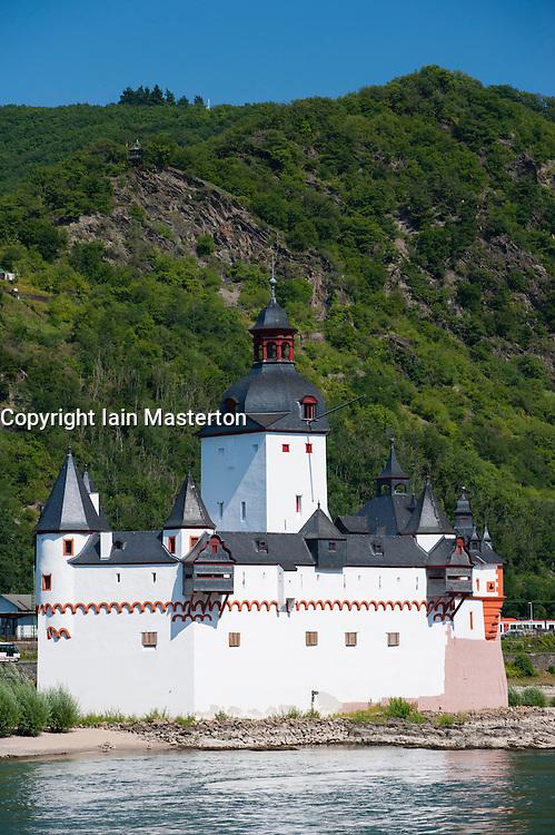Castle Pfalzgrafenstein on River Rhine in Rhineland-Palatinate Germany
