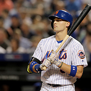 NEW YORK, NEW YORK - June 30: Brandon Nimmo #9 of the New York Mets during his nine pitch at bat against Joel Peralta during the Chicago Cubs Vs New York Mets regular season MLB game at Citi Field on June 30, 2016 in New York City. (Photo by Tim Clayton/Corbis via Getty Images)