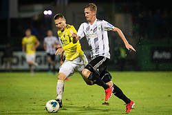 Martin Milec of Maribor and Žan Karničnik of NŠ Mura during football match between NŠ Mura and NK Maribor in 4th Round of Prva liga Telekom Slovenije 2019/20, on Avgust 3, 2019 in Fazanerija, Murska Sobota, Slovenia. Photo by Blaž Weindorfer / Sportida