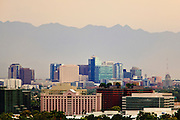 "18 AUGUST 2011 - PHOENIX, AZ:    The skyline of the city of Phoenix just before a ""haboob"" hit the city. A haboob (Arabic for ""strong wind"") is a type of intense duststorm commonly observed in arid regions throughout the world. They have been observed in the Sahara desert, the Arabian Peninsula, throughout Kuwait, and in Iraq. In the USA, they are frequently observed in the deserts of Arizona, including Yuma and Phoenix, as well as New Mexico and Texas. ""Haboob"" has been widely used to describe dust storms for more than a generation In Arizona but this year the very word ""haboob"" has become a political football because some conservatives have lobbied against use of the word, favoring English words, like ""dust storm.""   PHOTO BY JACK KURTZ"