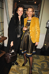 Left to right, BETTINA VON HASE and KATRIN HENKEL at a party hosted by Allegra Hicks to launch Lapo Elkann's fashion range in London held at Allegra Hicks, 28 Cadogan Place, London on 14th November 2007.<br />