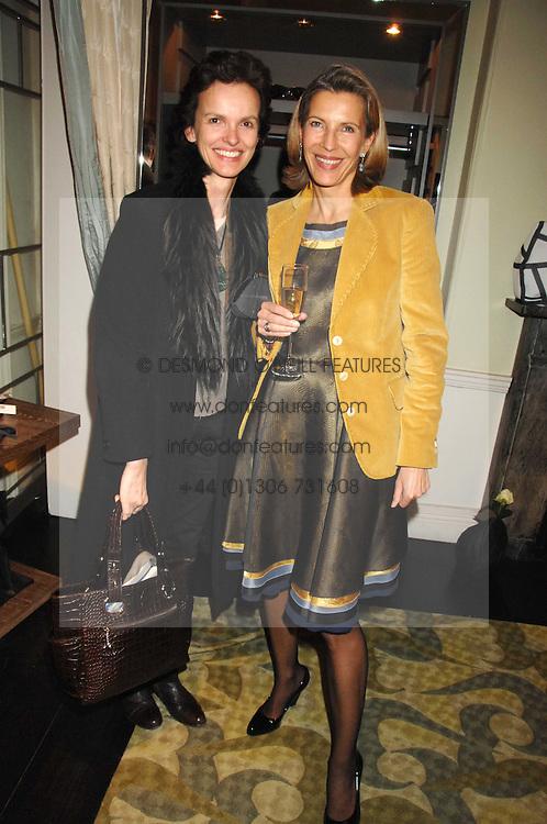 Left to right, BETTINA VON HASE and KATRIN HENKEL at a party hosted by Allegra Hicks to launch Lapo Elkann's fashion range in London held at Allegra Hicks, 28 Cadogan Place, London on 14th November 2007.<br /><br />NON EXCLUSIVE - WORLD RIGHTS