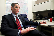 Dallas County Judge Clay Jenkins photographed at the Homeland Security and Emergency Management offices on October 9, 2014, in Dallas. (Cooper Neill for The New York Times)