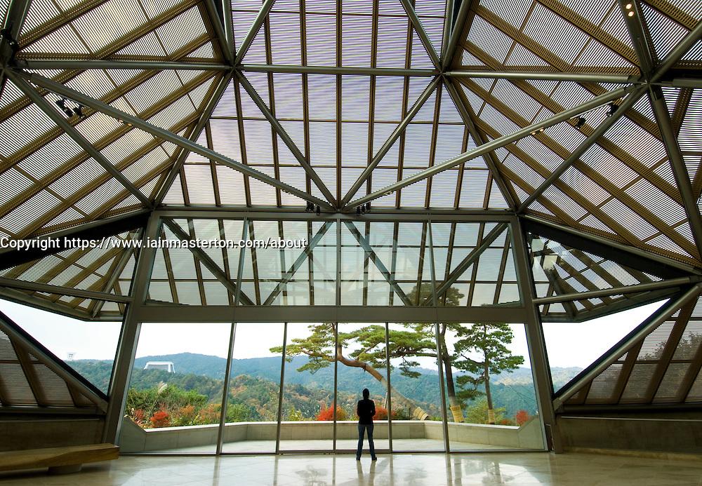 Interior of Miho Museum designed by IM Pei in Japan