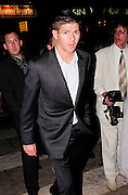20.MAY.2009.CANNES<br /> <br /> LIVERPOOL AND ENGLAND FOOTBALLER STEVEN GERRARD ARRING AT THE AFTERPARTY FOR NEW FILM INGLORIOUS BASTARDS HELD AT BAOLI BEACH, CANNES WITH SOME FRIENDS AT 12.30AM AND LEFT AT 3.00AM AND MET A LIVERPOOL FAN OUTSIDE AND SHOOK HIS HAND BEFORE HEADING TO VIP CLUB WHERE STAYED AND PARTIED TILL 4.30AM.<br /> <br /> BYLINE MUST READ EDBIMAGEARCHIVE.COM<br /> <br /> *THIS IMAGE IS STRICTLY FOR UK NEWSPAPERS & MAGAZINES ONLY*<br /> *FOR WORLDWIDE SALES & WEB USE PLEASE CONTACT EDBIMAGEARCHIVE-0208 954 5968*