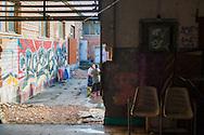 Roma, 02/12/2014: Il Metropoliz &egrave; una fabbrica dismessa nel quartiere di Tor Sapienza. All'interno coabitano circa duecento persone provenienti da diverse regioni del mondo e ospita il MAAM , museo dell'altro e dell'altrove di Metropoliz.<br /> &copy; Andrea Sabbadini