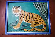 Dadohae Marine National Park. Dolsan-do. Hyang-ram (Hyang-il-am) buddhist hermitage. Tiger.