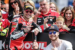 May 11, 2019 - Imola, Bologna, Italy - Ivan Zaytsev and Alvaro Bautista of ARUBA.IT Racing - Ducati during the Superbike World Championship, Italian Round at Autodromo di Imola on May 11, 2019 in Imola, Italy. (Credit Image: © Emmanuele Ciancaglini/NurPhoto via ZUMA Press)
