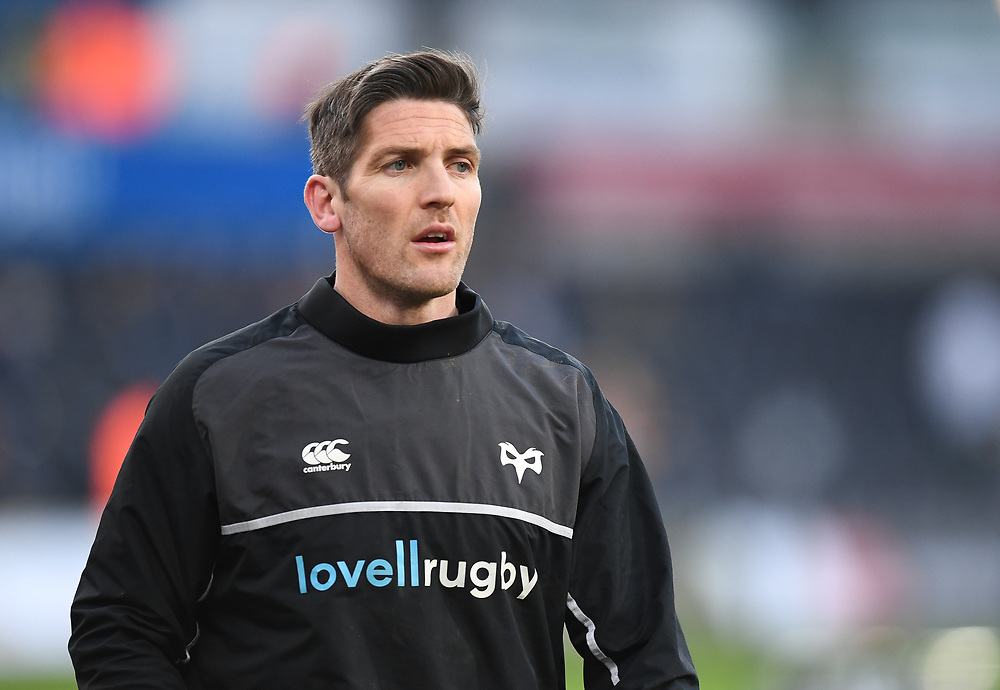 Ospreys' James Hook Pre match warm up<br /> <br /> Photographer Mike Jones/Replay Images<br /> <br /> Guinness PRO14 Round Round 16 - Ospreys v Cheetahs - Saturday 24th February 2018 - Liberty Stadium - Swansea<br /> <br /> World Copyright © Replay Images . All rights reserved. info@replayimages.co.uk - http://replayimages.co.uk