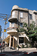 Israel, Tel Aviv, Bauhaus building at 21 Nachmani Street UNESCO has declared Tel Aviv an international heritage site because of the abundance of the Bauhaus architectural style