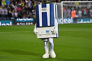 """West Bromwich Albion mascot """"Boiler man"""" sports his new colours during the EFL Sky Bet Championship match between West Bromwich Albion and Reading at The Hawthorns, West Bromwich, England on 21 August 2019."""