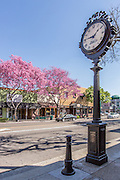Historical Landmark Wm. G. Stedman Jeweler Street Clock on Harbor Blvd in Downtown Fullerton