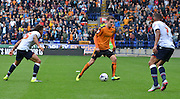 Jed Wallace looks for a way to split the bolton defence during the Sky Bet Championship match between Bolton Wanderers and Wolverhampton Wanderers at the Macron Stadium, Bolton, England on 12 September 2015. Photo by Mark Pollitt.