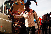 David Sesay arrives before the EFL Sky Bet League 2 match between Walsall and Crawley Town at the Banks's Stadium, Walsall, England on 18 January 2020.