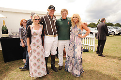 Asprey World Class Cup polo held at Hurtwood Park Polo Club, Ewhurst, Surrey on 17th July 2010.<br /> Picture shows:- Left to right,  ERIN JONES, CODY JONES, JAY JONES, CASEY JONES  Children of Kenney Jones.