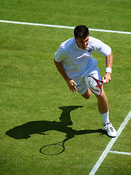 LONDON, ENGLAND - Saturday, June 30, 2012: Kenneth Skupski (GBR) during the Gentlemen's Doubles 2nd Round match on day five of the Wimbledon Lawn Tennis Championships at the All England Lawn Tennis and Croquet Club. (Pic by David Rawcliffe/Propaganda)