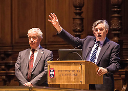 Former Prime Minister Gordon Brown returns to his former university to speak at an event exploring China's $900bn initiative to stimulate economic growth.