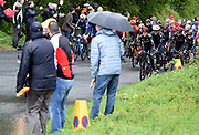 Some of the crowd urge the riders on at Baggaby Hill during Stage 1 of the Tour de Yorkshire from Doncaster to Selby, Doncaster, United Kingdom on 2 May 2019.