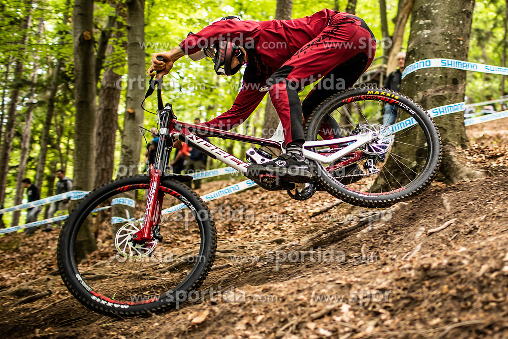 Samuel Blenkinsop of New Zealand during Mercedes-Benz UCI Mountain Bike World Cup competition final day in Bike Park Pohorje, Maribor on 28th of April, 2019, Slovenia.  . Photo by Grega Valancic / Sportida