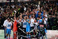 La squadra del Napoli con la coppa Tim<br /> Roma 20/05/2012 Stadio Olimpico<br /> Football Calcio 2011/2012 Tim Cup<br /> Finale Final<br /> Juventus vs Napoli<br /> Foto Insidefoto Paolo Nucci