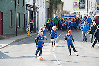 17/03/2016 Kinvara FC at the the St. Patrick's Day Parade in Kinvara Co. Galway. Photo:Andrew Downes, xposure.