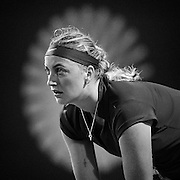 August 19, 2014, New Haven, CT:<br /> Petra Kvitova gets ready during a match against Ekaterina Makarova on day five of the 2014 Connecticut Open at the Yale University Tennis Center in New Haven, Connecticut Tuesday, August 19, 2014.<br /> (Photo by Billie Weiss/Connecticut Open)
