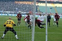 Milano 12-12-2004<br /> <br /> Campionato di calcio Serie A 2004-05<br /> <br /> Milan Fiorentina<br /> <br /> nella  foto Clarence Seedorf scores first goal for Milan <br /> <br /> Foto Snapshot / Graffiti