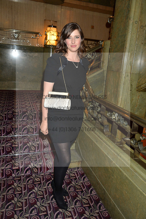 ALICE HORLICK of AEVHA handbags at the WGSN Global Fashion Awards 2015 held at The Park Lane Hotel, Piccadilly, London on 14th May 2015.
