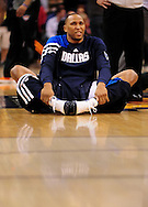 Mar. 08, 2012; Phoenix, AZ, USA;  Dallas Mavericks forward Shawn Marion (0) warms up prior to the game against the Phoenix Suns at the US Airways Center.  Mandatory Credit: Jennifer Stewart-US PRESSWIRE.