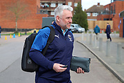 AFC Wimbledon assistant manager Nick Daws arriving for the game during the EFL Sky Bet League 1 match between AFC Wimbledon and Blackpool at the Cherry Red Records Stadium, Kingston, England on 22 February 2020.