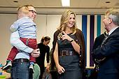 Koningin Maxima bezoekt winnaar Appeltje van Oranje De Pracht